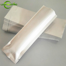 100pcs 60x180mm Open Top Glossy White Vacuumed Foil Bag Flat Bottom Needle Lightproof Packaging Bag Medical Instrument Pouch