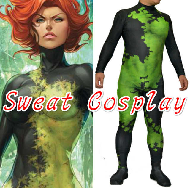 High Quality New 52 Poison Ivy Costume Printed Spandex Lycra Zentai Suit with 3D Muscle Shading Halloween Cosplay Costume  sc 1 st  Aliexpress & Online Shop High Quality New 52 Poison Ivy Costume Printed Spandex ...