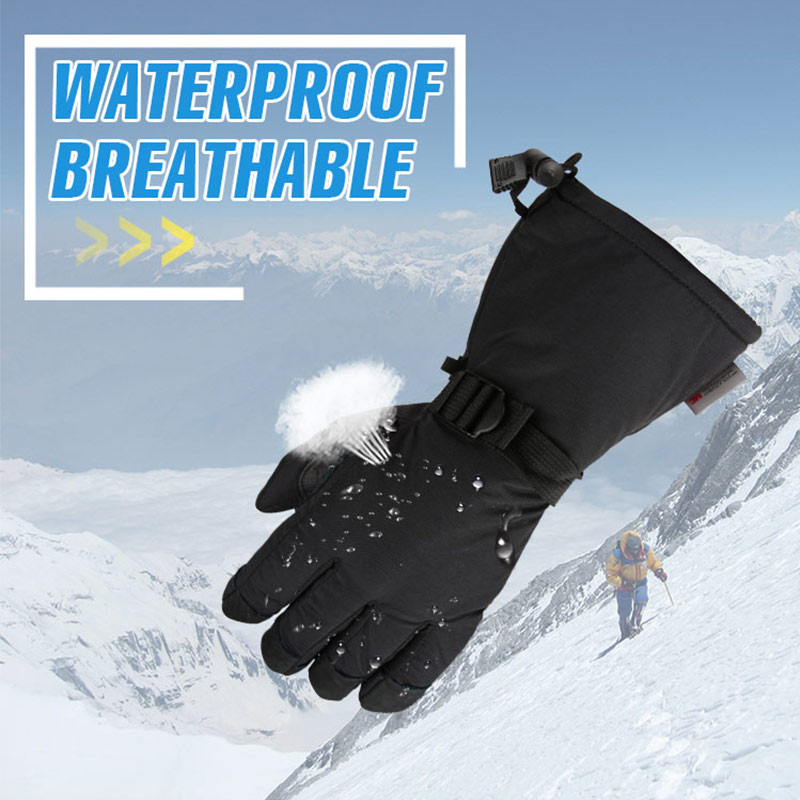 OZERO Winter Ski Gloves Men 39 s Skiing Snowboard Snowmobile Motorcycle Riding 3M Sports Windproof Waterproof Warm Gloves For Woman in Skiing Gloves from Sports amp Entertainment