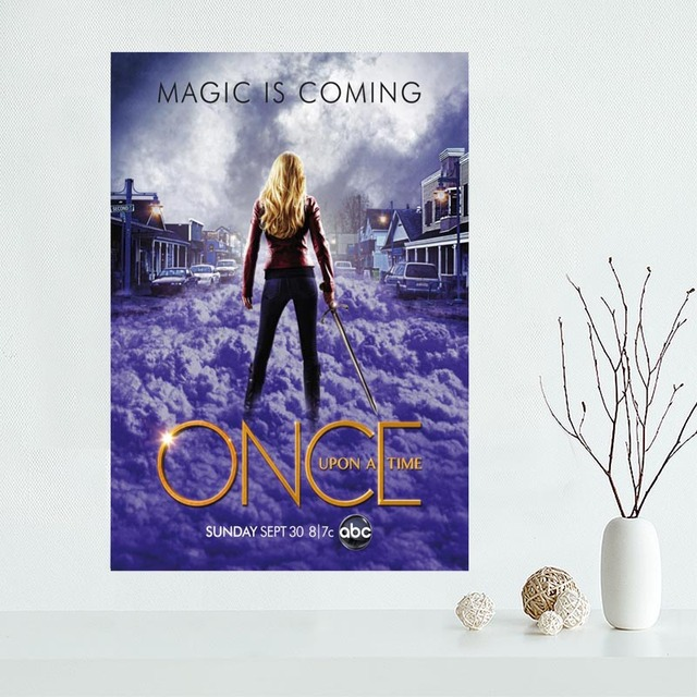 New Arrival Custom Once Upon A Time Canvas Poster Home Decoration