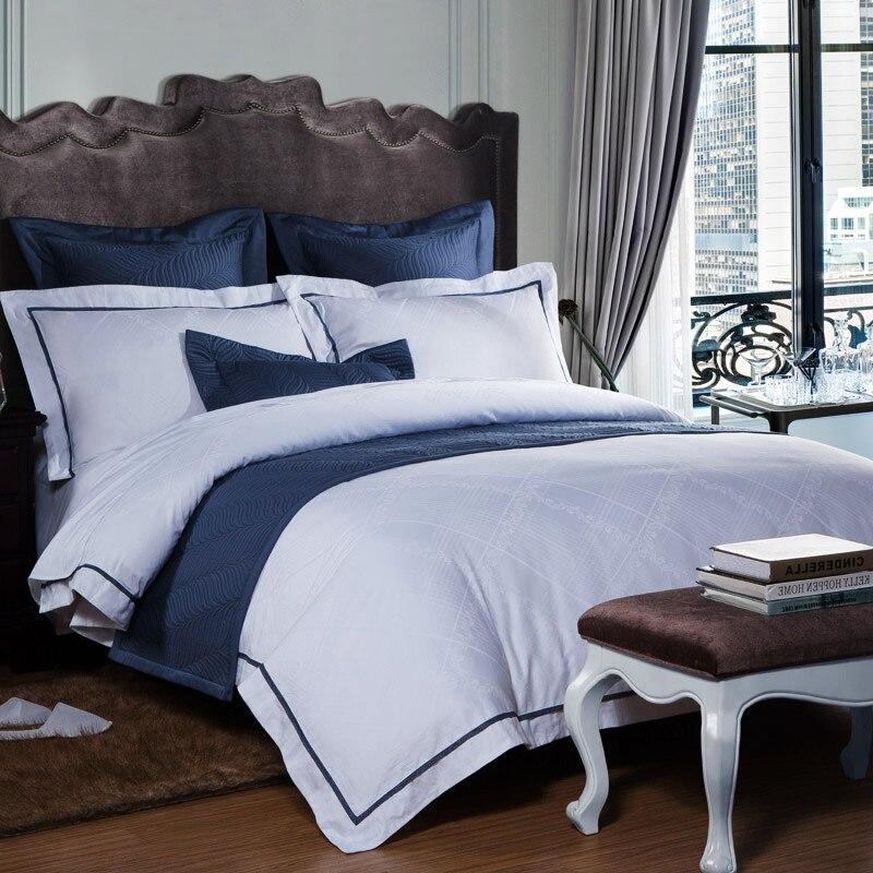 Отель роскошный белый постельное бельё простыни атласные хлопковые покрывала king queen размеры стеганое одеяло простыня Лен Стёганое одеяло к