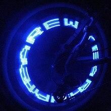 Práctico neumático de la válvula de la rueda de la bicicleta con luz LED de la letra de doble sentido a prueba de agua