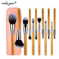 Vela Yue Makeup Brush Set 12 Pieces Cruelty Free Full Function Face Cheek Eyes Lips Beauty