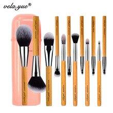 Vela. yue zestaw pędzli do makijażu 12 sztuk okrucieństwo bezpłatne pełna funkcja twarz policzek oczy usta zestaw narzędzi kosmetycznych z przypadku
