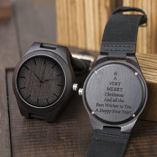Engraving Men Women Watches Family Special Christmas Gifts For Dad Mom Son Daughter Husband Wife Quartz