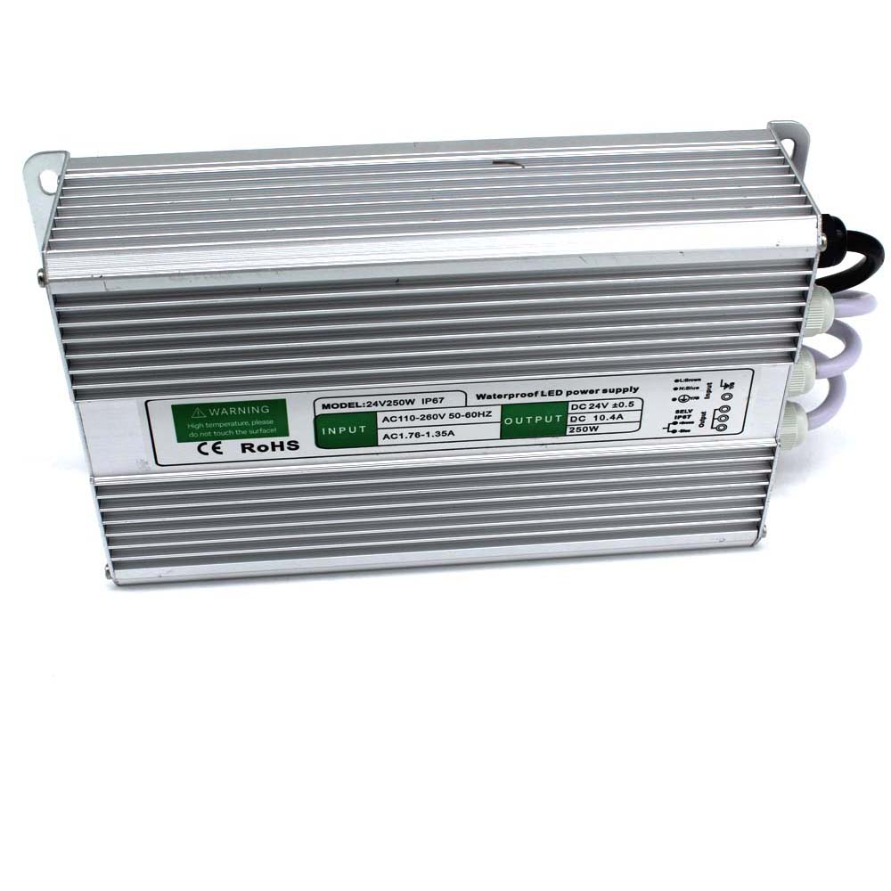Waterproof ip67 dc 24v 10.4A 250W Switching power supply Driver For ...