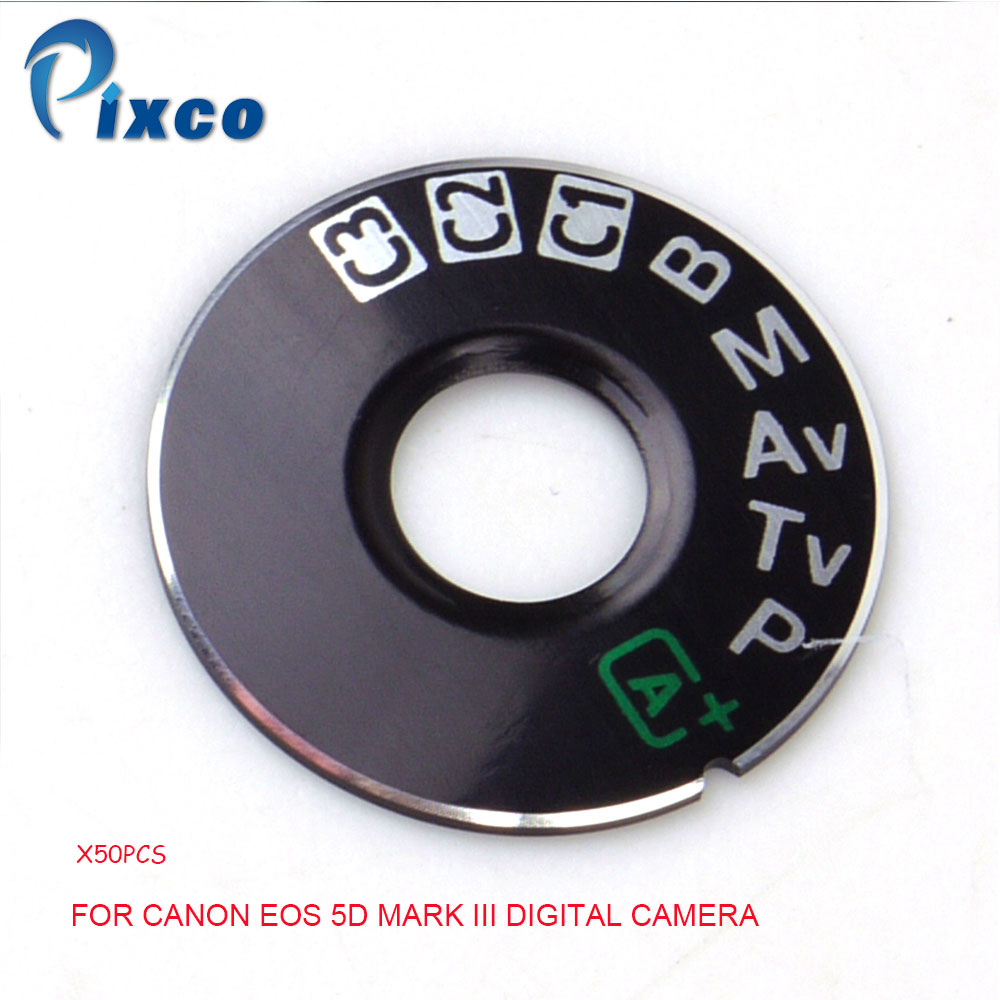 PIXCO 50PCS OEM Dial Mode Plate Interface Cap Replacement Part Lens Adapter Ring For Canon EOS 5D Mark III Digital Camera Repair silver and black original lens zoom unit for canon powershot s110 digital camera repair part with ccd