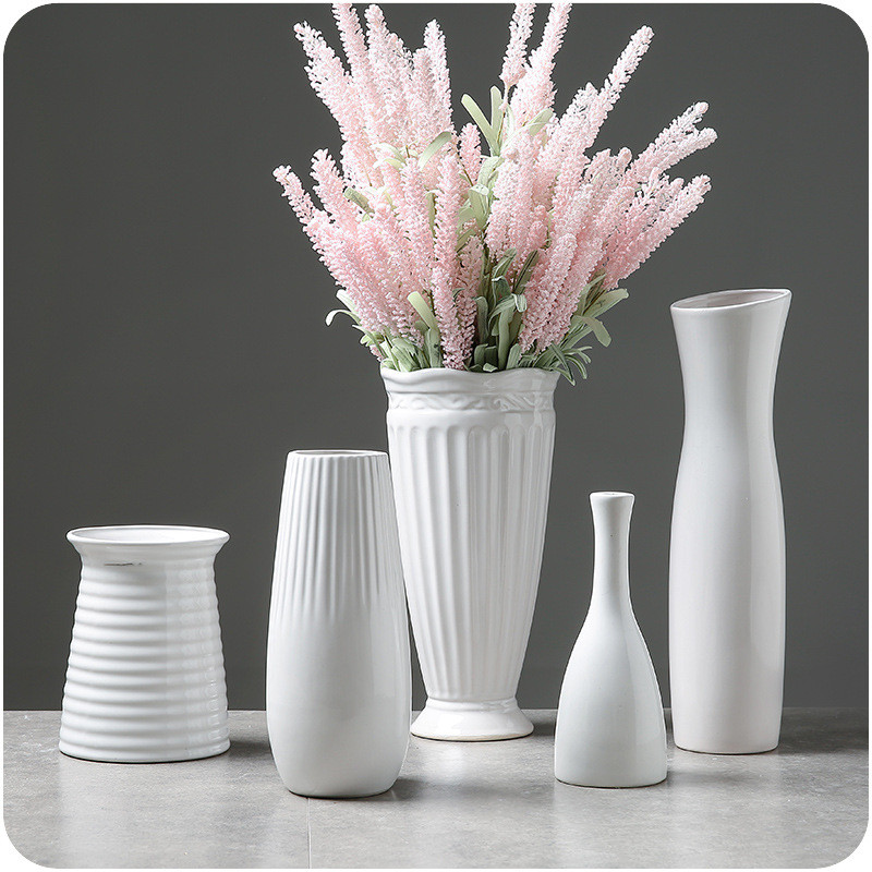 White Ceramic Vases 1