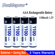 4pcs/Lot AAA Battery 1100mAh 1.2V Ni-MH Rechargeable in Actual High Capacity of aaa Rechargerable Cell