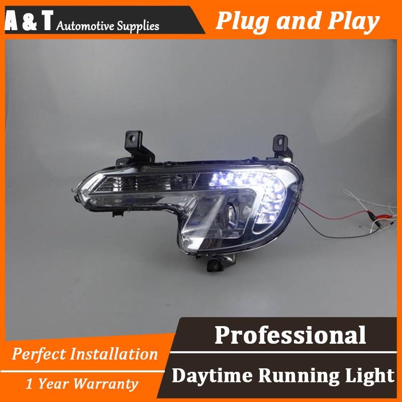 car styling For peugeo 508 LED DRL For 508 led daytime running light High brightness guide LED DRL