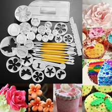 Full Set Mold  37pcs Fondant Cake Decorating Tools DIY Cookie Sugar Craft Plunger Cutters tool