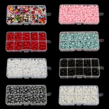 350Pcs 4mm 10mm Mixed Round Imitation ABS Pearl Beads Solid Color Loose Garment Beads for Clothing Decoration,Not Include Boxes