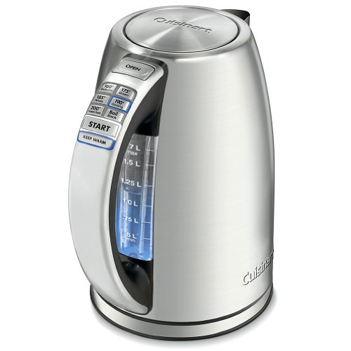 Cuisinart CPK-17 PerfecTemp 1.7-Liter Stainless Steel Cordless Electric Kettle Free Shipping