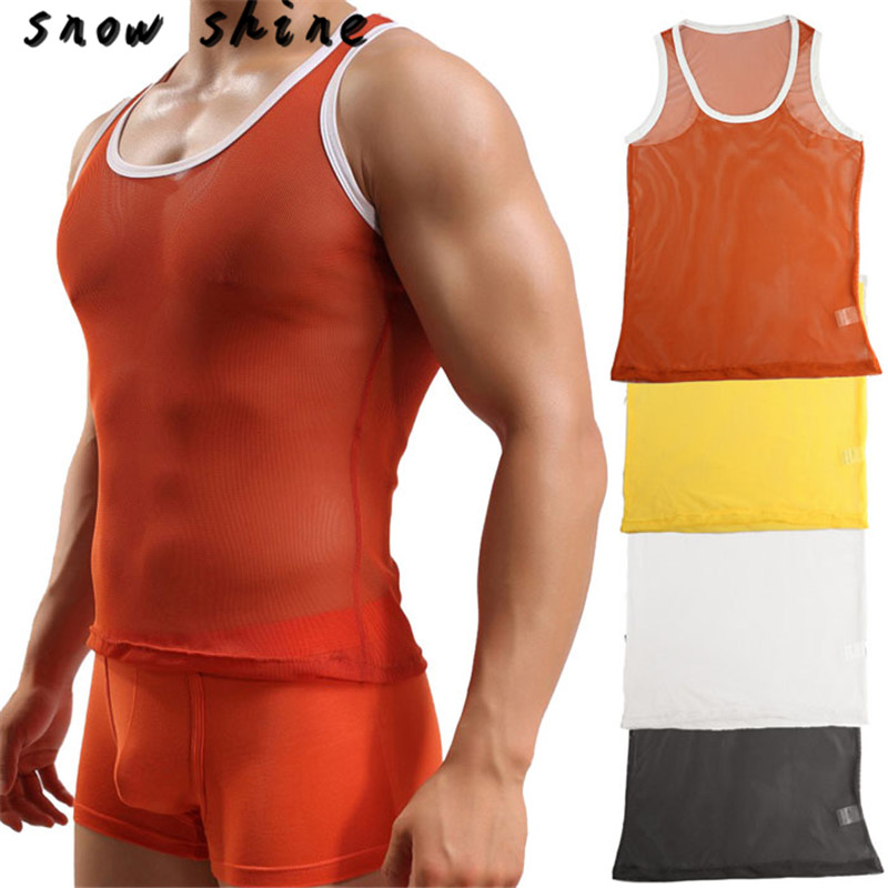 snowshine YLI 2017 Hot Mens Slim Fit Vest Sleeveless Tank Top Casual Muscle Summer free shipping