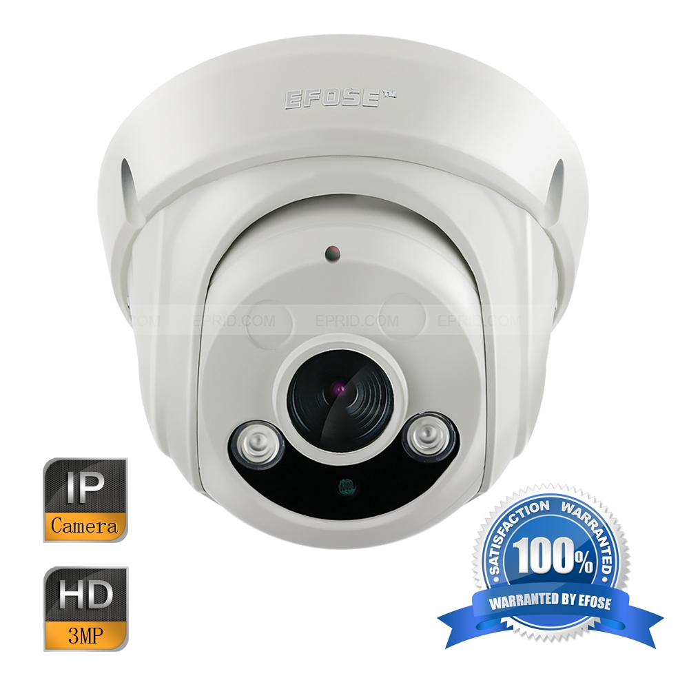 EFOSE FO-3ID341-N 3MP Full HD Network IR Dome Camera 1/3 CMOS Vandal-proof HD 1080P 2PCS Array IR