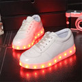 PU USB Charged Big Kids light up Shoe&Boys Girls Luminous Lamp&Basket Led kids Slipper&Children Shoes with Light&Casual Shoes