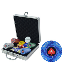 Ceramic  Poker Chip Set EPT Pokerstars Texas Holdem Chips Free Gift 100-500PCS Customizable Denomination