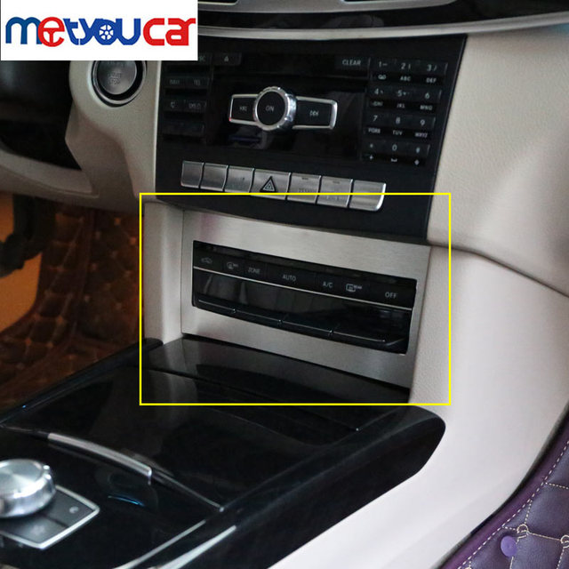 For Mercedes W212 Benz E-Class E200 E260 E300 2014-2016 Aluminum Center Control Air-Condition Switch Cover Trim Car-Styling