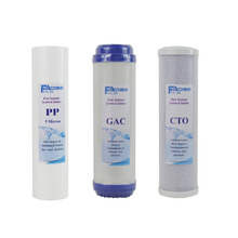 Water Filter Parts 10 PP+GAC+CTO prefilter of househould RO system