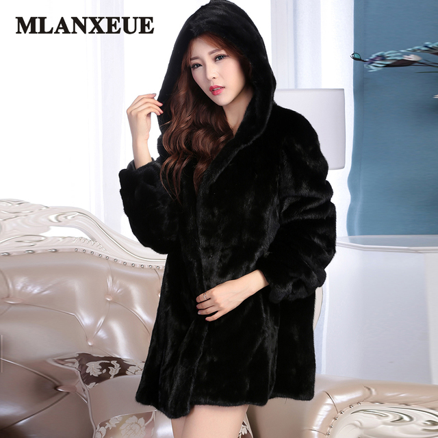 2017 Winter New Imitation Fox Fur Coat Mink Middle East Luxury Women Long Coat Faux Fur Coat Women Large Size Casaco Feminino