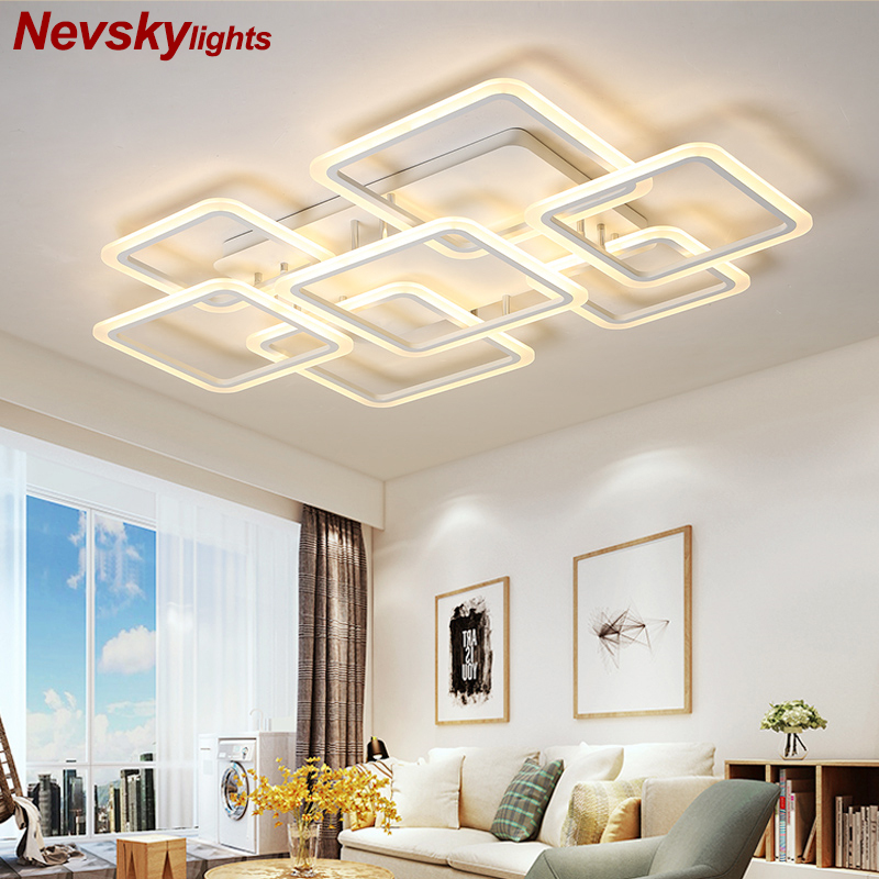 Modern Ceiling Lights LED Lamp For Living Room Bedroom Study Room White color surface mounted Ceiling Lamp Deco ledModern Ceiling Lights LED Lamp For Living Room Bedroom Study Room White color surface mounted Ceiling Lamp Deco led