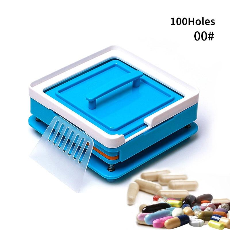00# Blue 100 Hole Plastic Manual Capsule Filling Machine Manual Capsule Filling Board
