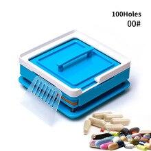 00# синий 100 отверстие пластиковая машина для ручного наполнения капсул руководство капсула доска для наполнителя