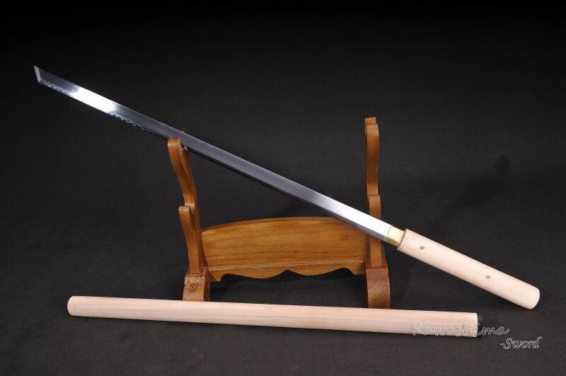 Katana samouraï japonais fait à la main 1095 acier argile tempérer vrai Hamon pleine Tang Ronin épée lame droite Shirasaya netteté-in Épées from Maison & Animalerie    3