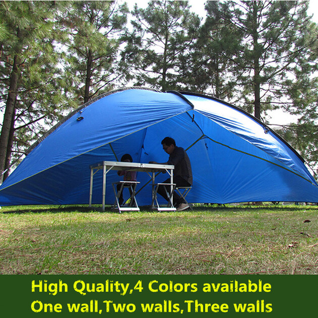 Ultralight large space beach shade waterproof canopy outdoor canvas awning party c&ing tent tarp tents for & Ultralight large space beach shade waterproof canopy outdoor ...