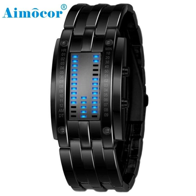2017 Newly Designed Luxury Women Stainless Steel Date Digital LED Bracelet Sport Watches 327