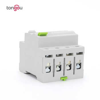 4 Pole 63A 30mA 220V 380V AC Magnetic Type 6KA Residual Current Device RCD RCCB With 5 Years Warranty