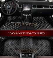 Leather Car floor mats for Volkswagen Touareg custom fit car all weather carpet floor liners foot mats