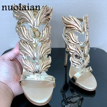 Sandals Women Sandalia Feminina Casual Summer High Heel Shoes Woman Fashion Gladiator Sandals Womens Thin Heels Platform Pumps(China)