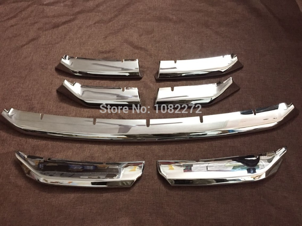 7pcs/set Chrome Front Grill Grille Bumper Trim Cover Trims For Lexus NX200T NX300H 2015 high quality abs chrome 2pcs up grill trim lower grill trim grill decoration trim grill streamer for honda city 2015 216