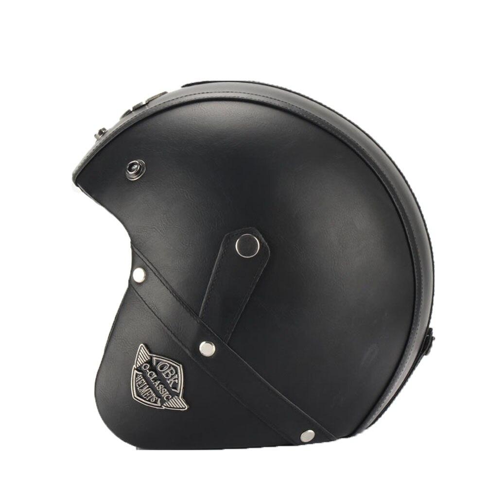 Casques 3/4 moto Chopper casque de vélo visage ouvert vintage casque de moto avec masque de lunettes