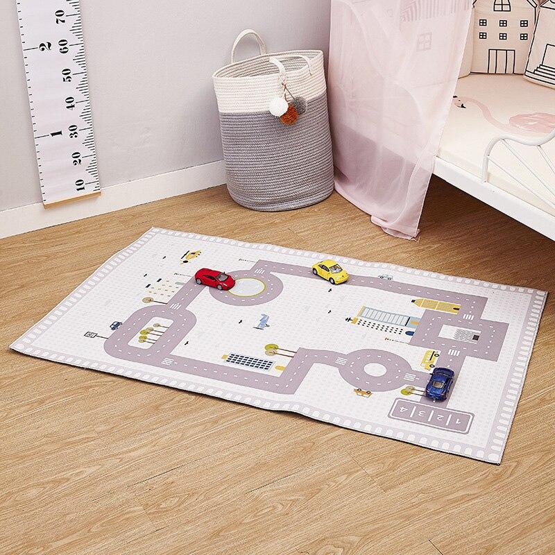 80*130 cm enfants jouer tapis de jeu jouets numérique tapis de route tapis couverture de sol bébé ramper tapis antidérapant enfants chambre décoration 35