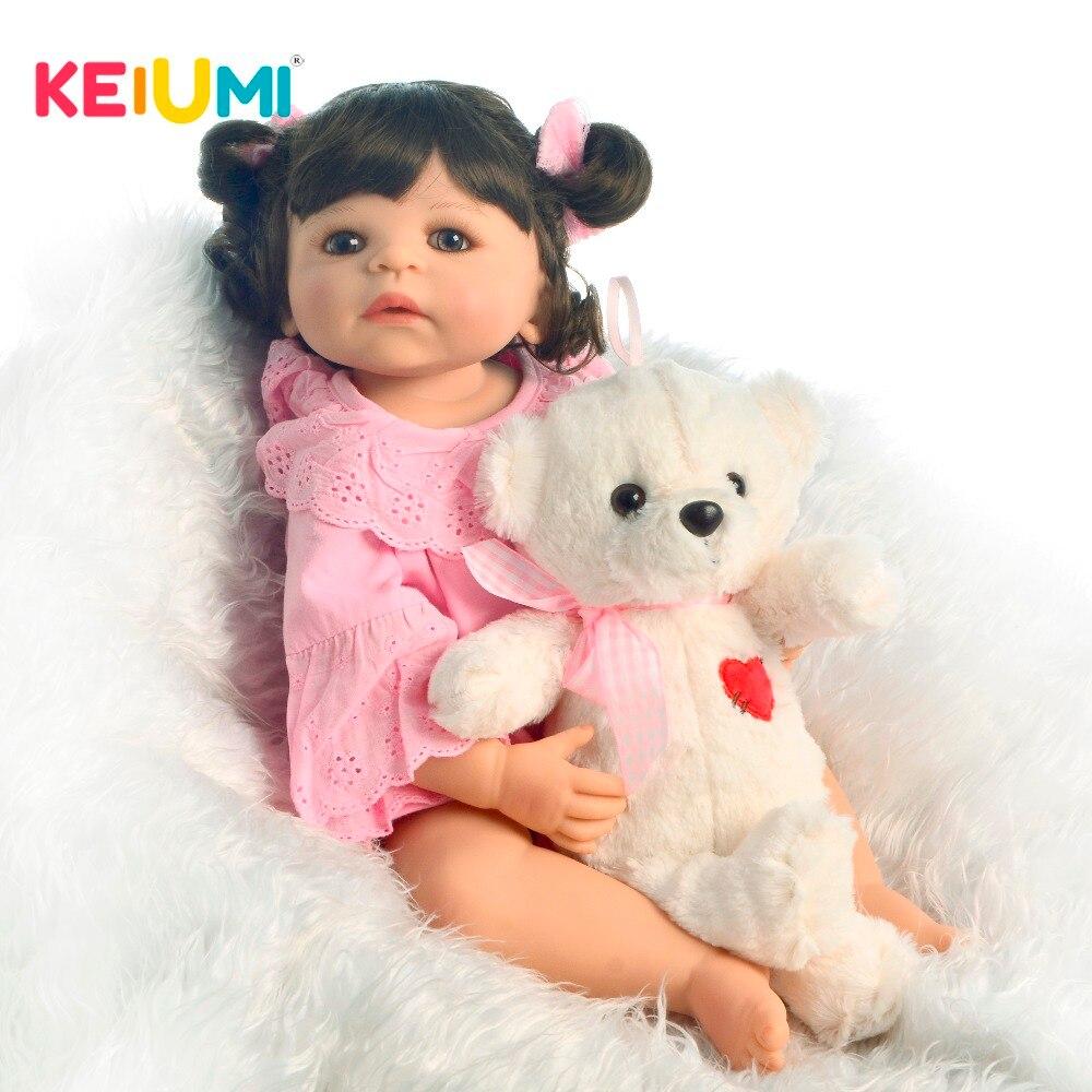 KEIUMI 人形リボーン 55 センチメートル 22 インチのフルシリコンビニールリボーン人形女の赤ちゃんファッション子供プレイメイト本当の王女 diy のおもちゃ  グループ上の おもちゃ & ホビー からの 人形 の中 1