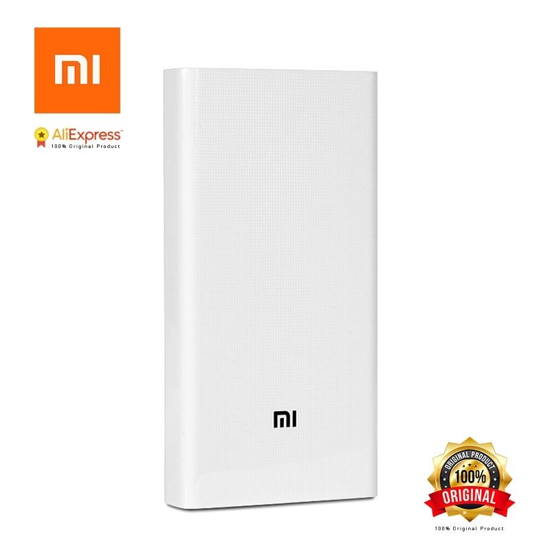 Xiao mi Banque de Puissance D'origine 20000 mah 2 2C Portable Chargeur Double USB mi Externe Batterie Banque 20000 pour Mobile téléphones et Tablettes