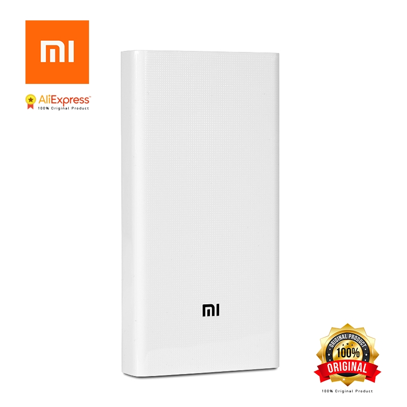 Xiaomi Original Power Bank 20000mAh 2 2C Portable Charger Dual USB Mi External Battery Bank 20000 for Mobile Phones and Tablets xiaomi original new 5000mah 2 alloy metal ultra thin power bank for mobile phone