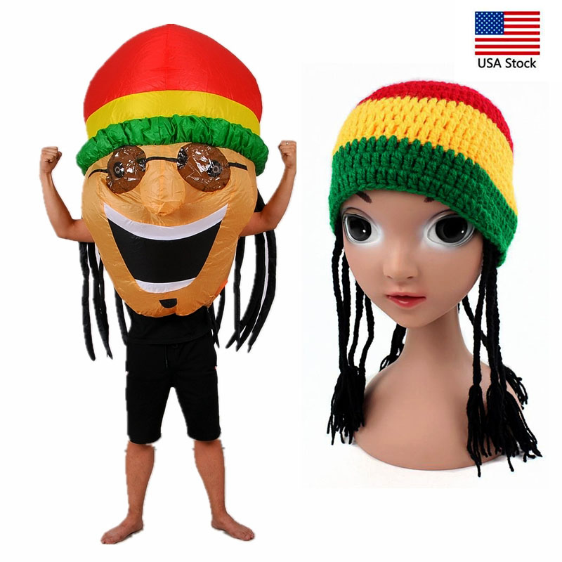 Jamaican Cosplay Costume Anime Inflatable Clothes Halloween Christmas Garment Make up Party Clothing Fancy Dress Up
