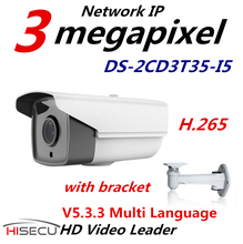 H.265  IP Camera Outdoor 3.0 megapixel  Multi Language IP Camera CCTV Camera Bullet IR DS-2CD3T35-I5 6mm lens