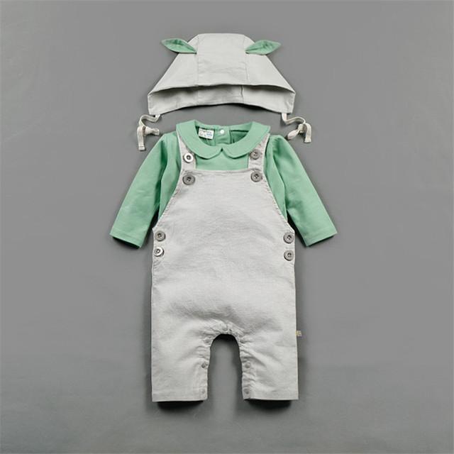 2017 primavera bebé niño niña ropa de algodón monos infantiles bebé sólido traje next mameluco mamelucos de los monos recién nacidos