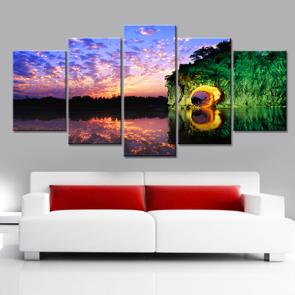 Modern Art Paintings For Living Room Popular Simple Scenery Paintings Buy Cheap Simple Scenery