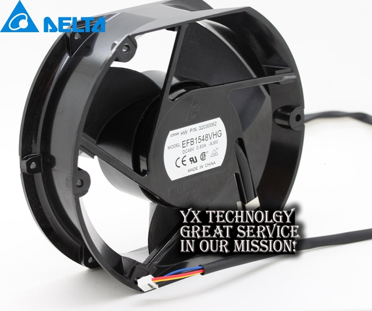 Delta New EFB1548VHG 17251 17cm 48V 0.83A circular drive cooling fan for  172*172*51mm new original delta 12cm tha1248be 12038 48v 2 6a cooling fan