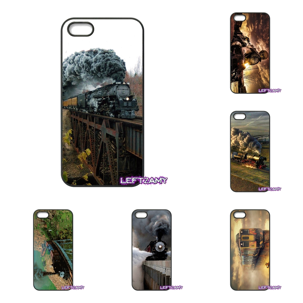 For iPhone 4 4S 5 5C SE 6 6S 7 8 Plus X 4.7 5.5 iPod Touch 4 5 6 Classic Train Railway Pattern Cell Phone Case Cover