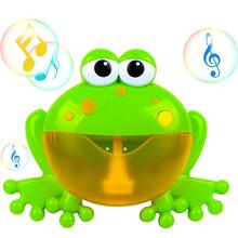 Baby Bath Toy Frog Bubble Machine Gun Musical Water Toy Bubble Maker with Nursery Rhyme Bathtub Children Infant Baby Bubble Toys