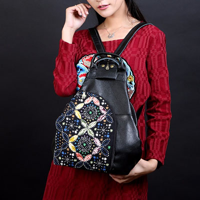 XIYUAN BRAND New Fashion Women Backpack Brand Guarantee Genuine Leather Backpacks Vintage Travel School bags for Women Bolsas xiyuan brand luxury and fashion women backpacks vintage handmade embroidered bags ladies embroidery canvas travel bags backpack