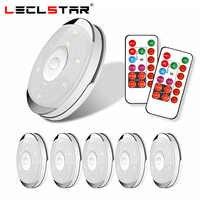 Capteur tactile sans fil LED sous l'armoire lumière cuisine LED batterie garde-robe/placard Puck lumière avec contrôleur Dimmable veilleuse