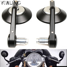 7/8 Accessories Motorcycle Rearview Mirror Round Handle Bar End Rear Side For kawasaki z750 Z800 R3 R6 mt 07 mt09