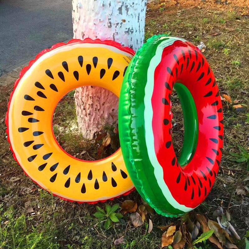2017 new men and women general fruit lemon watermelon swimming pool pvc inflatable hydrosphere